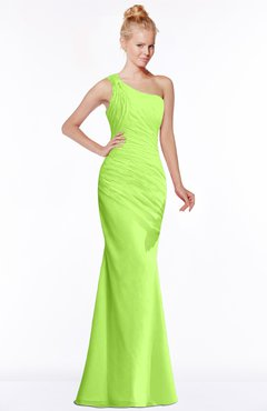 ColsBM Michelle Bright Green Simple A-line Sleeveless Chiffon Floor Length Bridesmaid Dresses