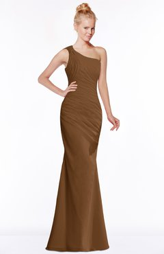 ColsBM Michelle Brown Simple A-line Sleeveless Chiffon Floor Length Bridesmaid Dresses