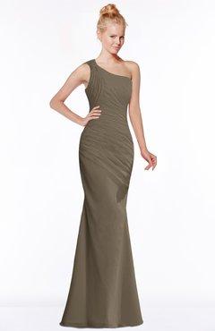 ColsBM Michelle Carafe Brown Simple A-line Sleeveless Chiffon Floor Length Bridesmaid Dresses