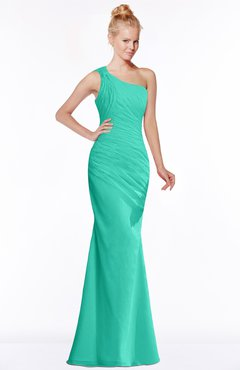 72903057b2ca Ceramic · ColsBM Michelle Mint Green Simple A-line Sleeveless Chiffon Floor  Length Bridesmaid Dresses