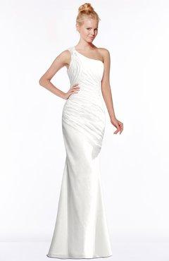 ColsBM Michelle Cloud White Simple A-line Sleeveless Chiffon Floor Length Bridesmaid Dresses
