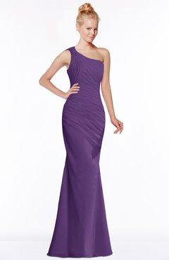 ColsBM Michelle Dark Purple Simple A-line Sleeveless Chiffon Floor Length Bridesmaid Dresses