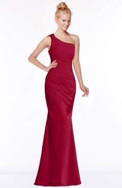ColsBM Michelle Dark Red Simple A-line Sleeveless Chiffon Floor Length Bridesmaid Dresses
