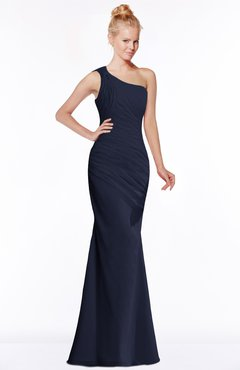 ColsBM Michelle Dark Sapphire Simple A-line Sleeveless Chiffon Floor Length Bridesmaid Dresses