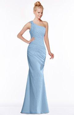 ColsBM Michelle Dusty Blue Simple A-line Sleeveless Chiffon Floor Length Bridesmaid Dresses