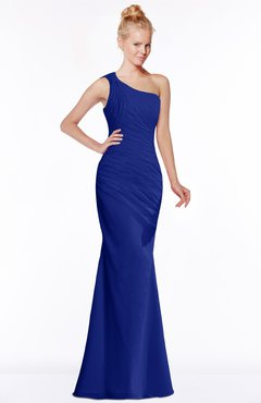 ColsBM Michelle Electric Blue Simple A-line Sleeveless Chiffon Floor Length Bridesmaid Dresses