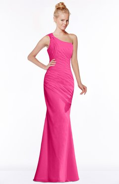 ColsBM Michelle Fandango Pink Simple A-line Sleeveless Chiffon Floor Length Bridesmaid Dresses