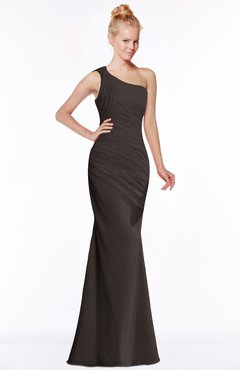 ColsBM Michelle Fudge Brown Simple A-line Sleeveless Chiffon Floor Length Bridesmaid Dresses