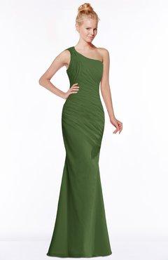ColsBM Michelle Garden Green Simple A-line Sleeveless Chiffon Floor Length Bridesmaid Dresses
