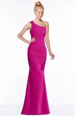 ColsBM Michelle Hot Pink Simple A-line Sleeveless Chiffon Floor Length Bridesmaid Dresses