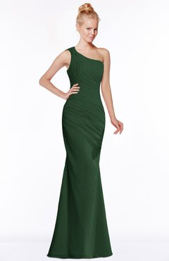 ColsBM Michelle Hunter Green Simple A-line Sleeveless Chiffon Floor Length Bridesmaid Dresses