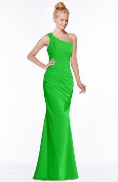 ColsBM Michelle Jasmine Green Simple A-line Sleeveless Chiffon Floor Length Bridesmaid Dresses