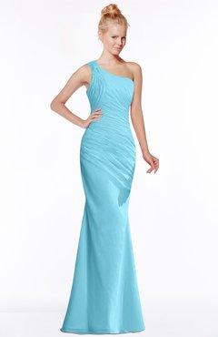 ColsBM Michelle Light Blue Simple A-line Sleeveless Chiffon Floor Length Bridesmaid Dresses