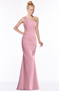 ColsBM Michelle Light Coral Simple A-line Sleeveless Chiffon Floor Length Bridesmaid Dresses