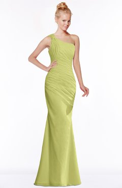 ColsBM Michelle Linden Green Simple A-line Sleeveless Chiffon Floor Length Bridesmaid Dresses