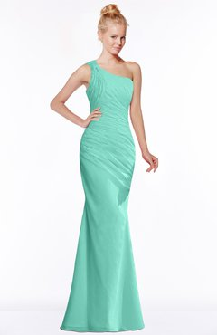 ColsBM Michelle Mint Green Simple A-line Sleeveless Chiffon Floor Length Bridesmaid Dresses