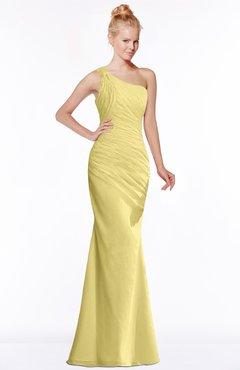 ColsBM Michelle Misted Yellow Simple A-line Sleeveless Chiffon Floor Length Bridesmaid Dresses