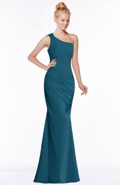 ColsBM Michelle Moroccan Blue Simple A-line Sleeveless Chiffon Floor Length Bridesmaid Dresses