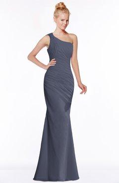 ColsBM Michelle Nightshadow Blue Simple A-line Sleeveless Chiffon Floor Length Bridesmaid Dresses