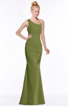 ColsBM Michelle Olive Green Simple A-line Sleeveless Chiffon Floor Length Bridesmaid Dresses