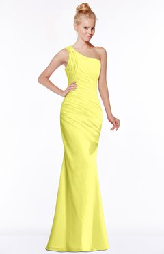 ColsBM Michelle Pale Yellow Simple A-line Sleeveless Chiffon Floor Length Bridesmaid Dresses