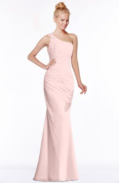 ColsBM Michelle Pastel Pink Simple A-line Sleeveless Chiffon Floor Length Bridesmaid Dresses