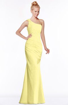 ColsBM Michelle Pastel Yellow Simple A-line Sleeveless Chiffon Floor Length Bridesmaid Dresses