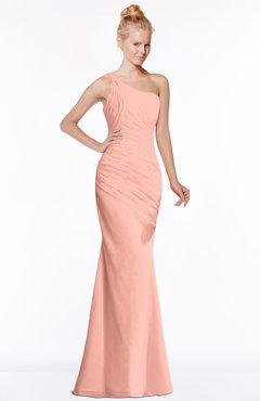 ColsBM Michelle Peach Simple A-line Sleeveless Chiffon Floor Length Bridesmaid Dresses