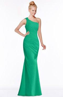 ColsBM Michelle Pepper Green Simple A-line Sleeveless Chiffon Floor Length Bridesmaid Dresses