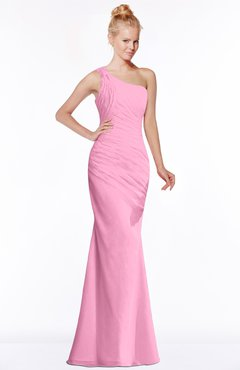 ColsBM Michelle Pink Simple A-line Sleeveless Chiffon Floor Length Bridesmaid Dresses