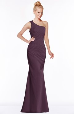 ColsBM Michelle Plum Simple A-line Sleeveless Chiffon Floor Length Bridesmaid Dresses