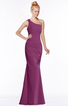 ColsBM Michelle Raspberry Simple A-line Sleeveless Chiffon Floor Length Bridesmaid Dresses