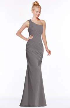 ColsBM Michelle Ridge Grey Simple A-line Sleeveless Chiffon Floor Length Bridesmaid Dresses