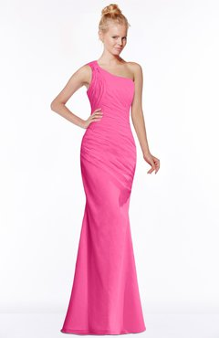 ColsBM Michelle Rose Pink Simple A-line Sleeveless Chiffon Floor Length Bridesmaid Dresses