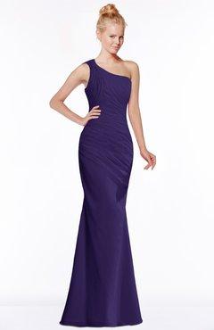 ColsBM Michelle Royal Purple Simple A-line Sleeveless Chiffon Floor Length Bridesmaid Dresses