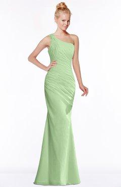 ColsBM Michelle Sage Green Simple A-line Sleeveless Chiffon Floor Length Bridesmaid Dresses