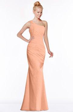 0eb9d836c4b0 ColsBM Michelle Salmon Simple A-line Sleeveless Chiffon Floor Length  Bridesmaid Dresses