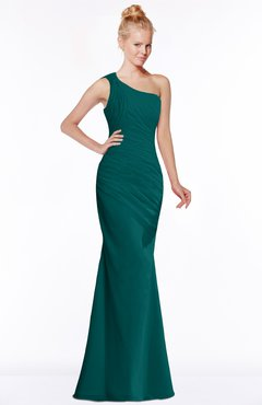 ColsBM Michelle Shaded Spruce Simple A-line Sleeveless Chiffon Floor Length Bridesmaid Dresses