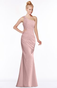 ColsBM Michelle Silver Pink Simple A-line Sleeveless Chiffon Floor Length Bridesmaid Dresses
