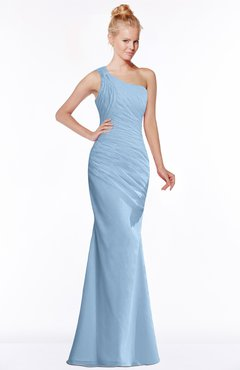 ColsBM Michelle Sky Blue Simple A-line Sleeveless Chiffon Floor Length Bridesmaid Dresses