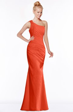 ColsBM Michelle Tangerine Tango Simple A-line Sleeveless Chiffon Floor Length Bridesmaid Dresses