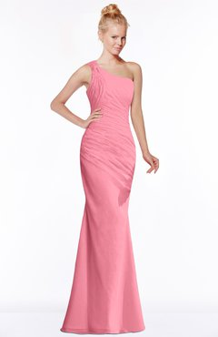 ColsBM Michelle Watermelon Simple A-line Sleeveless Chiffon Floor Length Bridesmaid Dresses