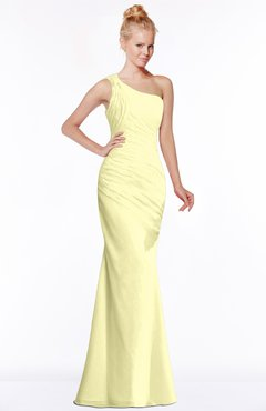 ColsBM Michelle Wax Yellow Simple A-line Sleeveless Chiffon Floor Length Bridesmaid Dresses