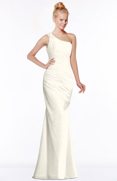 ColsBM Michelle Whisper White Simple A-line Sleeveless Chiffon Floor Length Bridesmaid Dresses