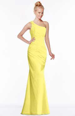 ColsBM Michelle Yellow Iris Simple A-line Sleeveless Chiffon Floor Length Bridesmaid Dresses