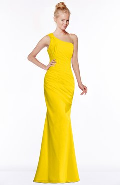 ColsBM Michelle Yellow Simple A-line Sleeveless Chiffon Floor Length Bridesmaid Dresses