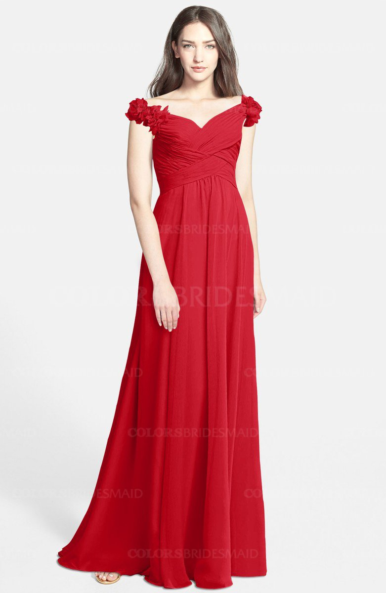 b1ff2a812340 ColsBM Carolina. Red Gorgeous Fit-n-Flare Off-the-Shoulder Sleeveless Zip up  ...