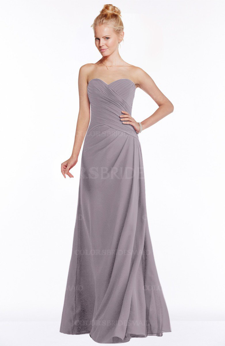 80898ffa4aec ColsBM Juniper Sea Fog Modest A-line Sweetheart Sleeveless Ruching Bridesmaid  Dresses
