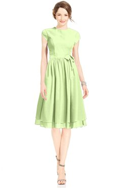 ColsBM Jane Butterfly Mature Fit-n-Flare High Neck Zip up Chiffon Bridesmaid Dresses