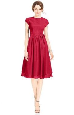 ColsBM Jane Lollipop Mature Fit-n-Flare High Neck Zip up Chiffon Bridesmaid Dresses